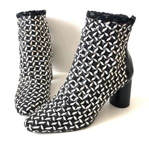 Zara Two Toned Braided Ankle Boots